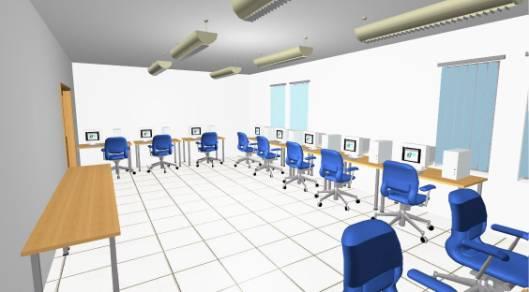 New Building 3d Interior Design